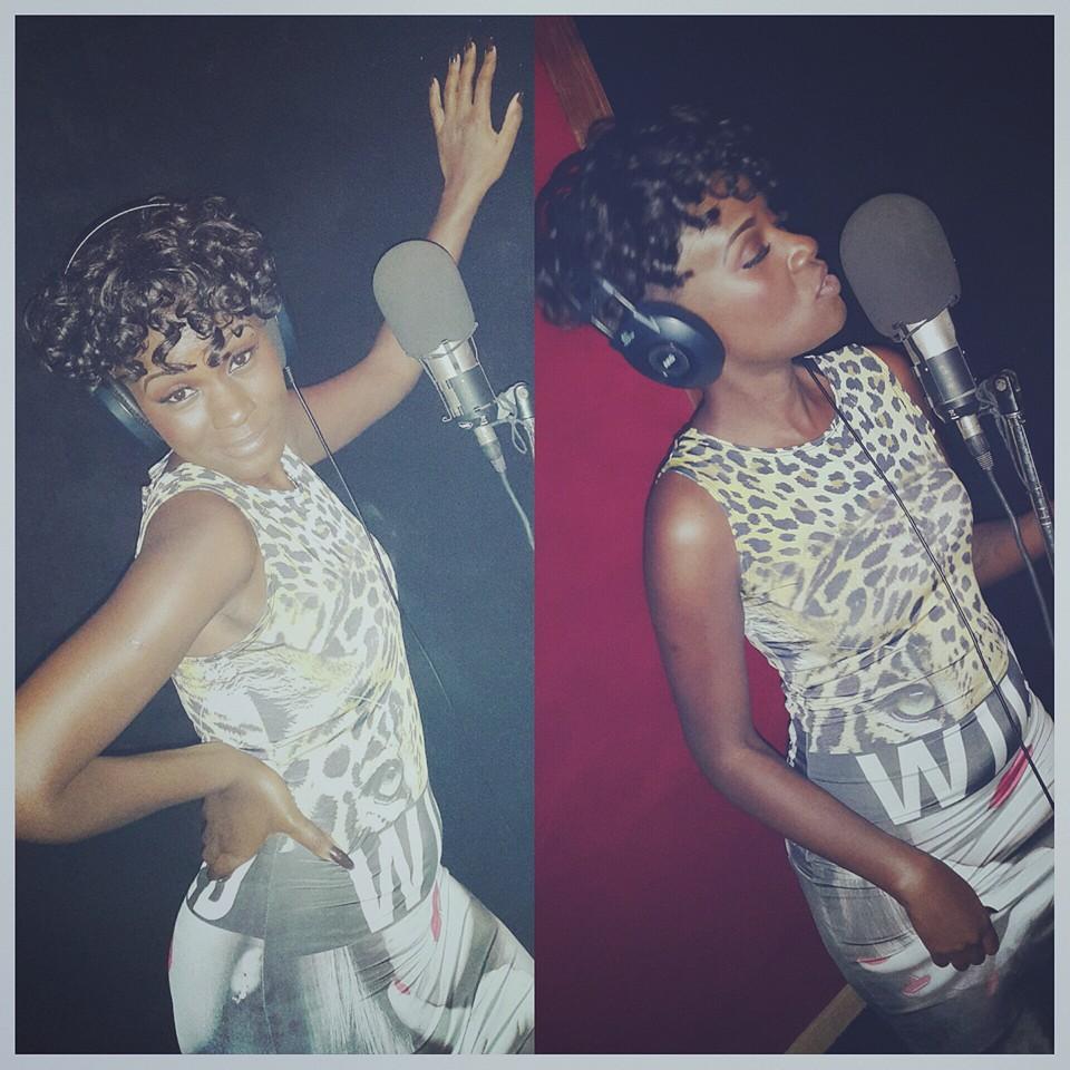 Juliana in studio in Lagos.
