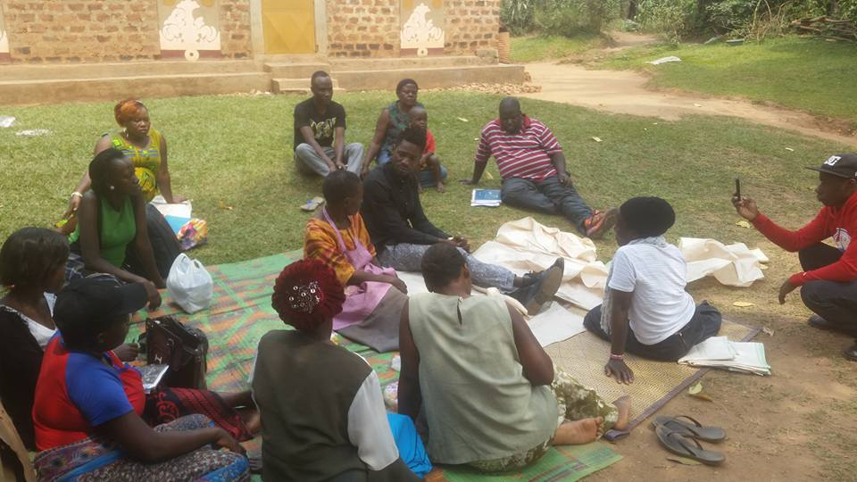 Bobi meeting with with the leaders of Masooli Women's Crafts group earlier this week. Is he on the ground looking for votes?
