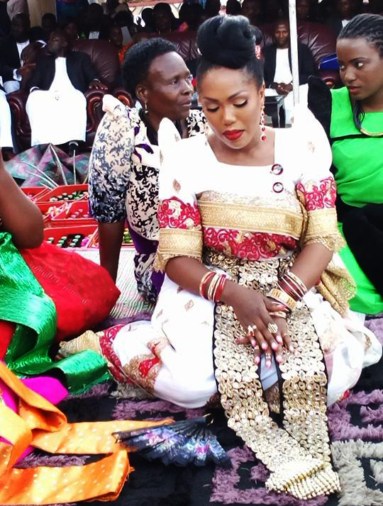 One of the many outfits she wore at the kwanjula.