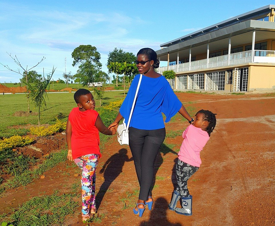 Nakazibwe and her two girls.