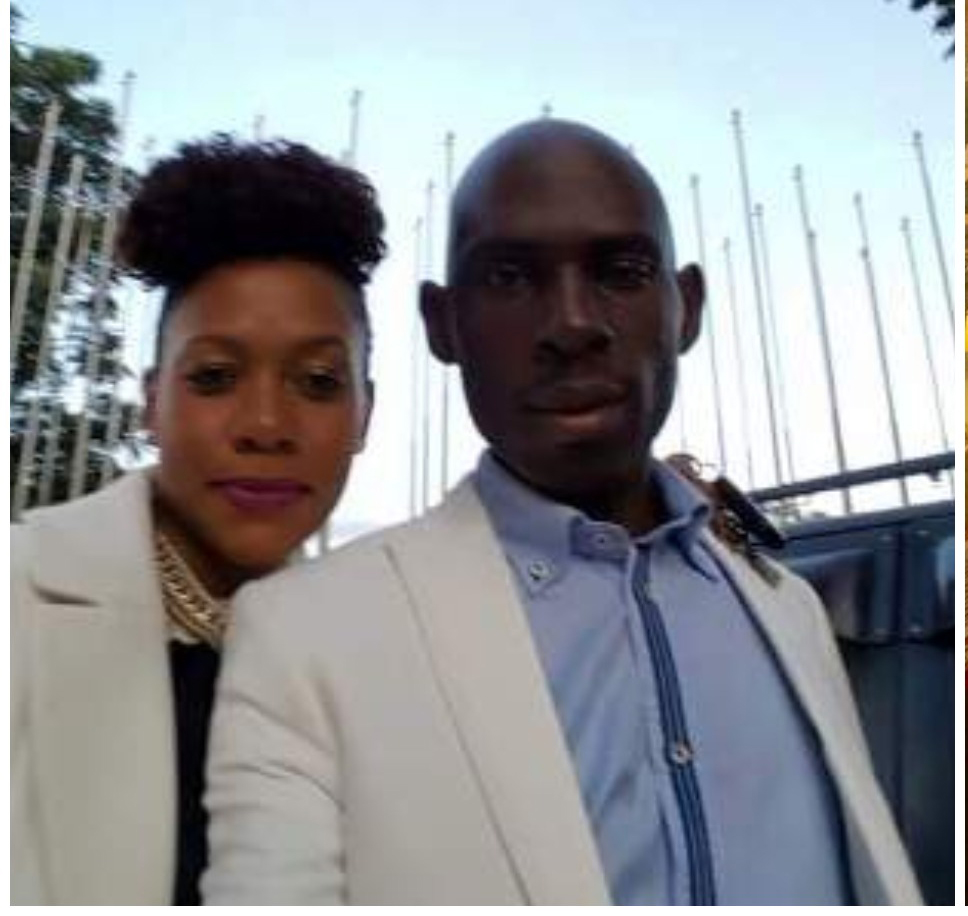 SK Mbuga with Vivienne in South Africa