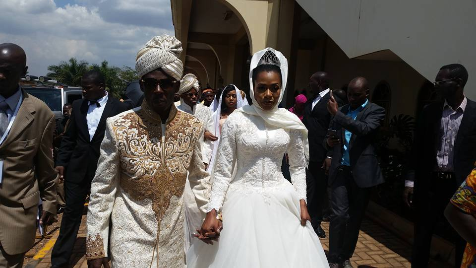 Mbuga and his newly wed wife.