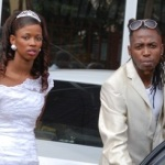 Rabadaba and wife on their wedding day.