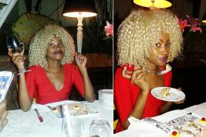 Sheeba at her b-day dinner, before she hit the bar.
