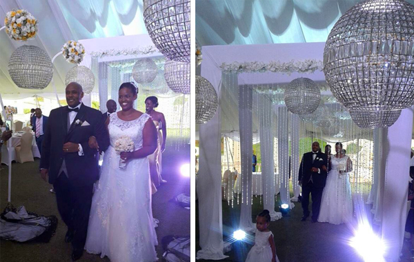 The décor had white, silver and gold theme colours.