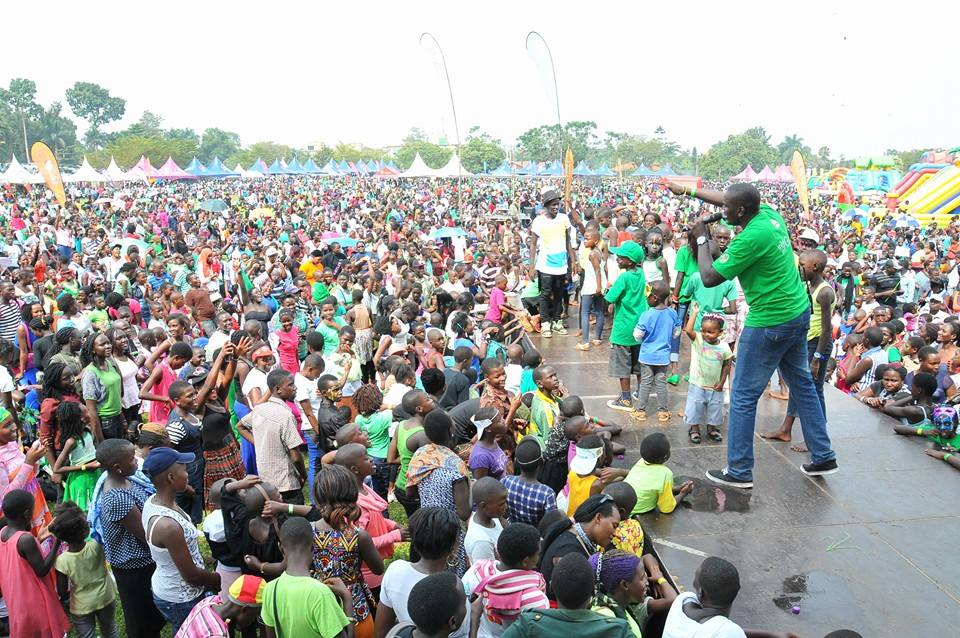 Joseph Masembe at the recent Green Kids' Festival. He is organising the climate change conference.