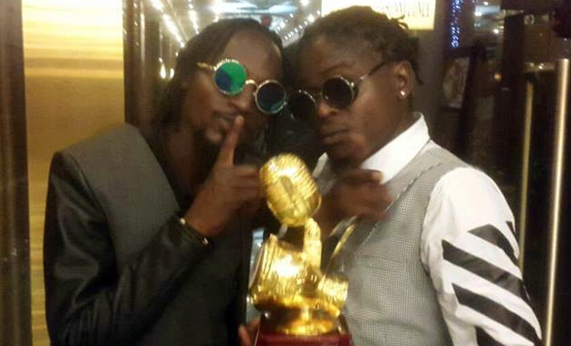 Radio and Weasel with their Afrima award.