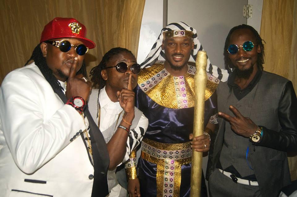 Washington, Weasel, 2Face Idibia and Radio at the Afrima Awards.