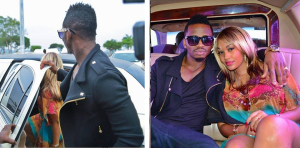 Perfect gentleman. Even if he was the guest, Diamond Platnumz opened the door for Zari before they sat next to each other in the limo.