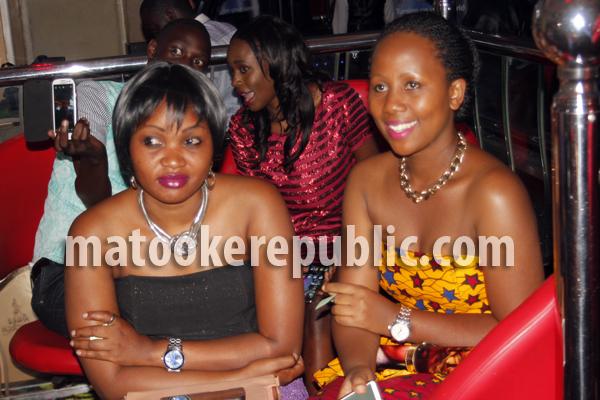 Actresses Milka Irene and Doreen Mirembe.