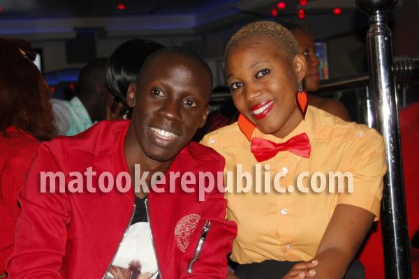 NTV presenter Douglas Lwanga and one of the show's actresses Pretty Katende.