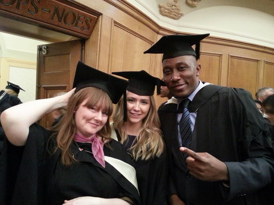 Roger at his graduation in London last year.