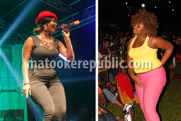 Desire Luzinda performs at a fan touches her Ekitone.