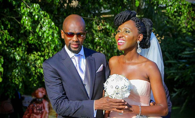 Fabian and Seanice on their wedding day last December.