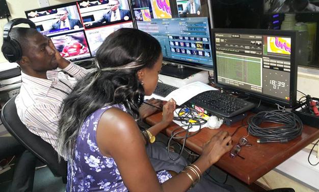 Ellah in the Urban TV studios.