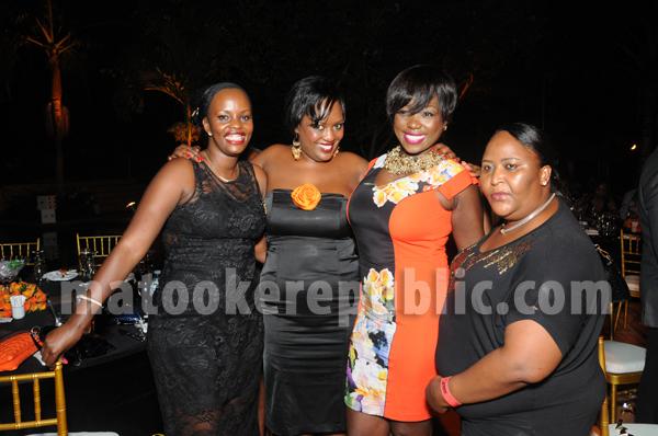 Sheeba, Sheila Kangwagye, Sue Ochola, and Judith Heard's PA.