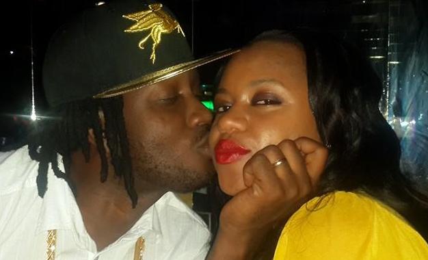 Bebe plants a kiss on Zuena's cheek.