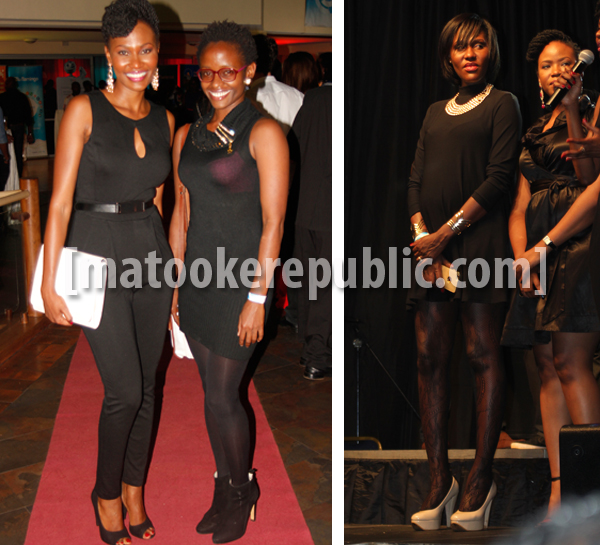Ladies in black. Nancy Kacungira and a friend. Right is Seanice Kacungira or we almost forgot, Seanice Lojede.