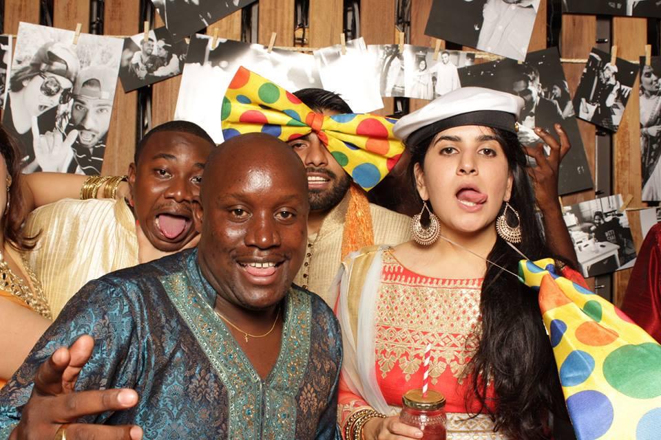 Gideon Kiggundu, Ronnie Ndyareeba and the couple.