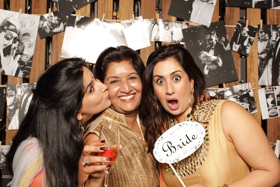 The Ruparelia girls and their mother Jyostna at the wedding party.