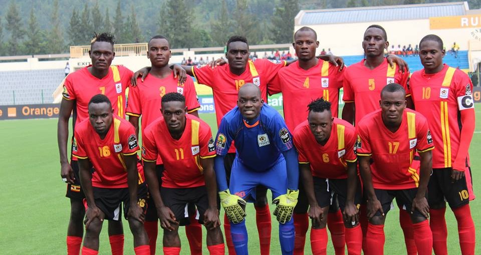 The Uganda Cranes line-up.
