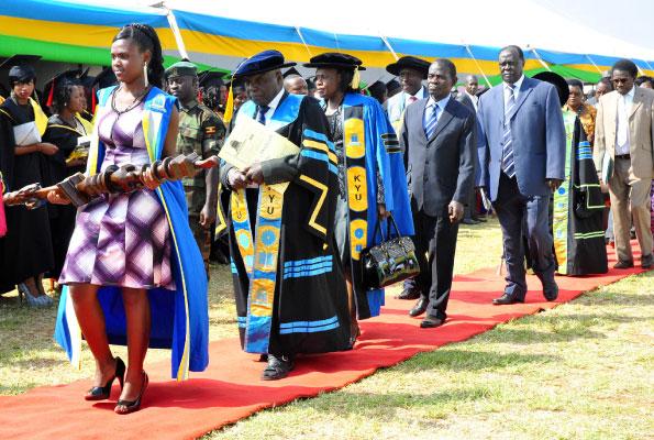 Prof. John Ssebuwufu (2nd L).