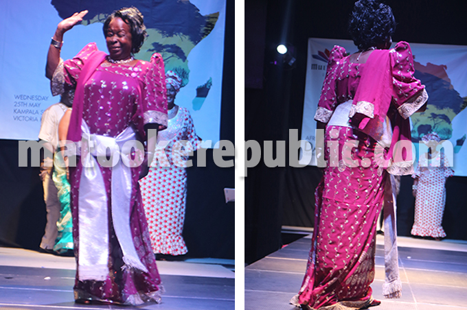 Mutagambwa brought some skills from the 60s onto the catwalk.