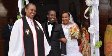 Richard and Sharon at All Saints in Nakasero.