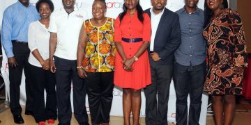 Mpanga and her newly elected executive.