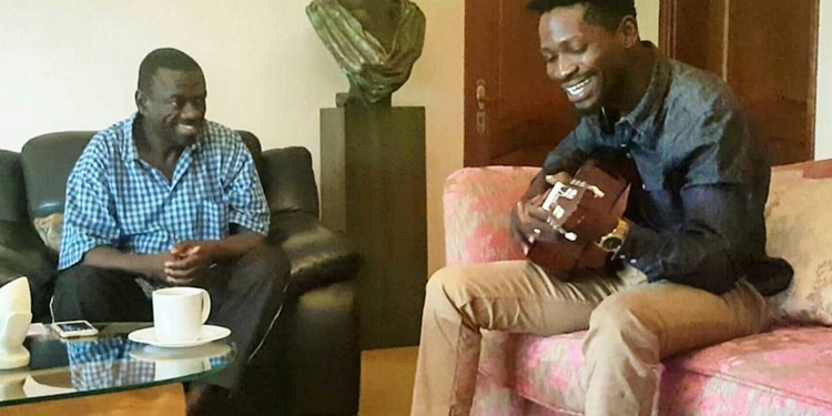 Bobi Wine and opposition leader Dr. Kiiza Besigye.