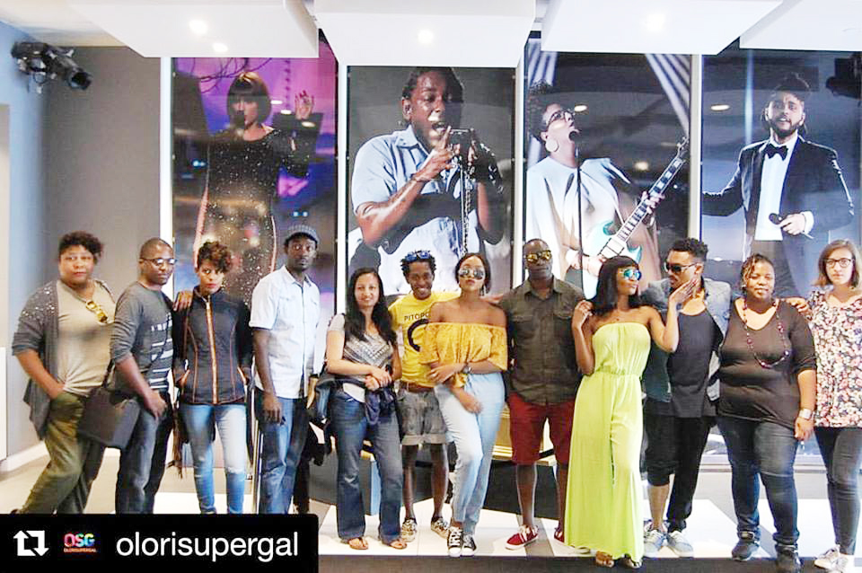 The fellows also included Frank Mugerwa, behind Jah Live Films (fifth from right).