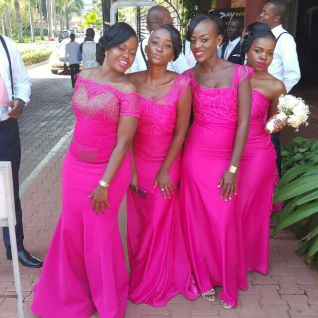 Some of Jackie's friends in the bridal party.