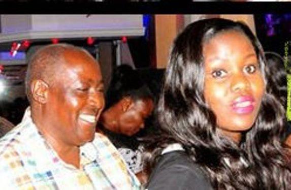 Kigongo and Nakazibwe when they were dating in 2015.