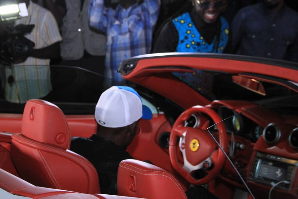 Groom to be SK Mbuga dropped by in his Ferrari.