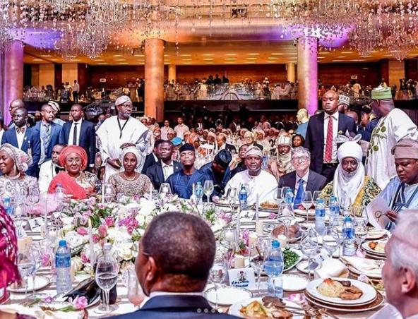 PHOTOS: Bill Gates attends wedding of Aliko Dangote's