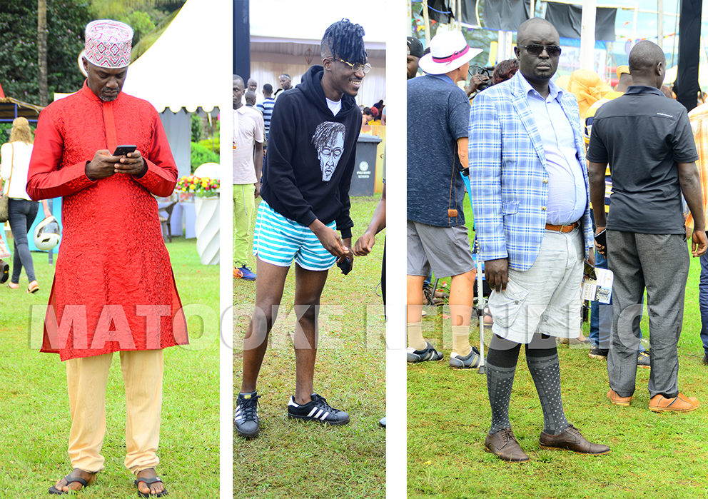 Old man of the clan Andrew Mwenda went Indian while A Pass showed up in boxers.